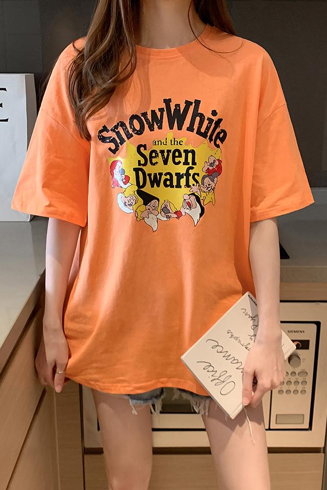 百搭学生短袖T恤女装夏季新款宽松韩版洋气中长款网红时尚体桖衫
