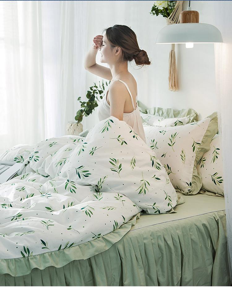全棉床裙款纯棉四件套单双人床被子罩学生宿舍三件套公主韩版