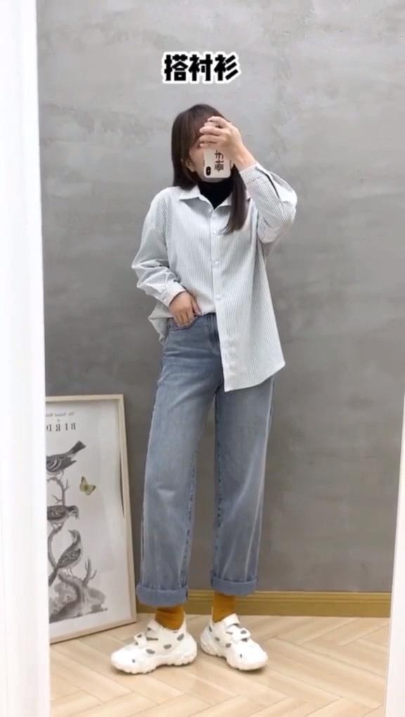 163cm 120斤#微胖女生 ,无敌百搭的3条裤子都在这~主要还显瘦!穿搭 初春穿搭  #100件外套合集#