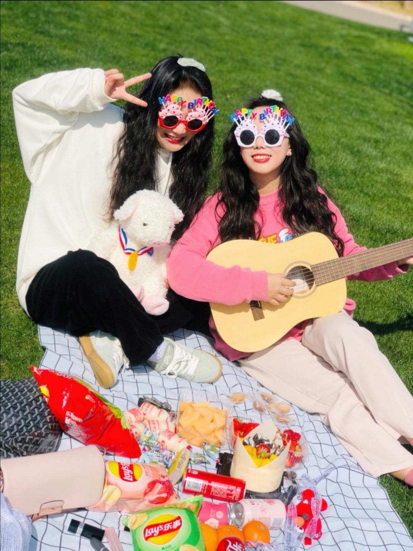 ☀️趁着好天气,叫上姐妹去野餐吧👒🍒 #100件外套合集#