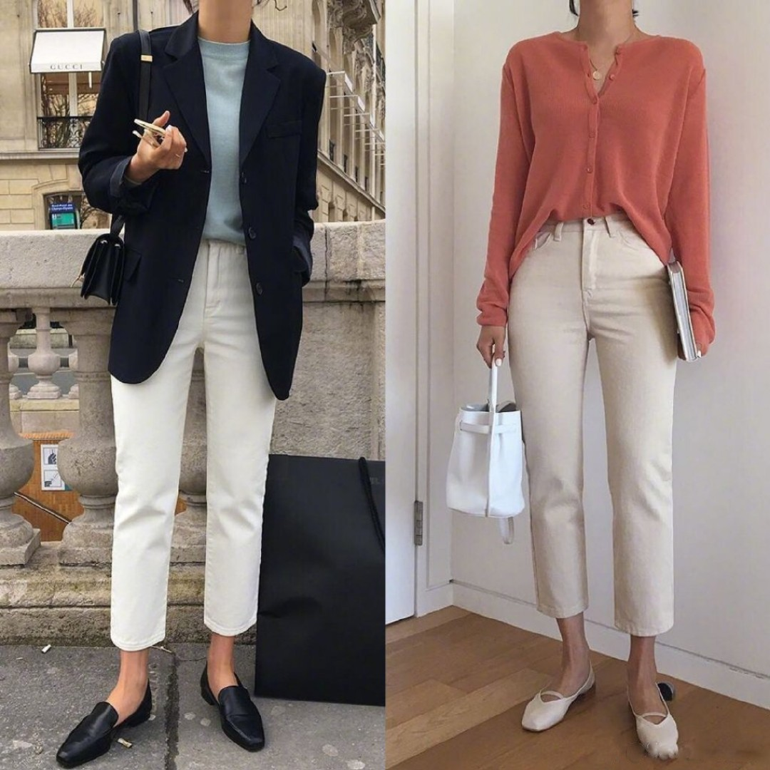 🎉🛍上班族裤子穿搭LOOK,干净有气质,小个子参考👭 #大长腿穿搭术#