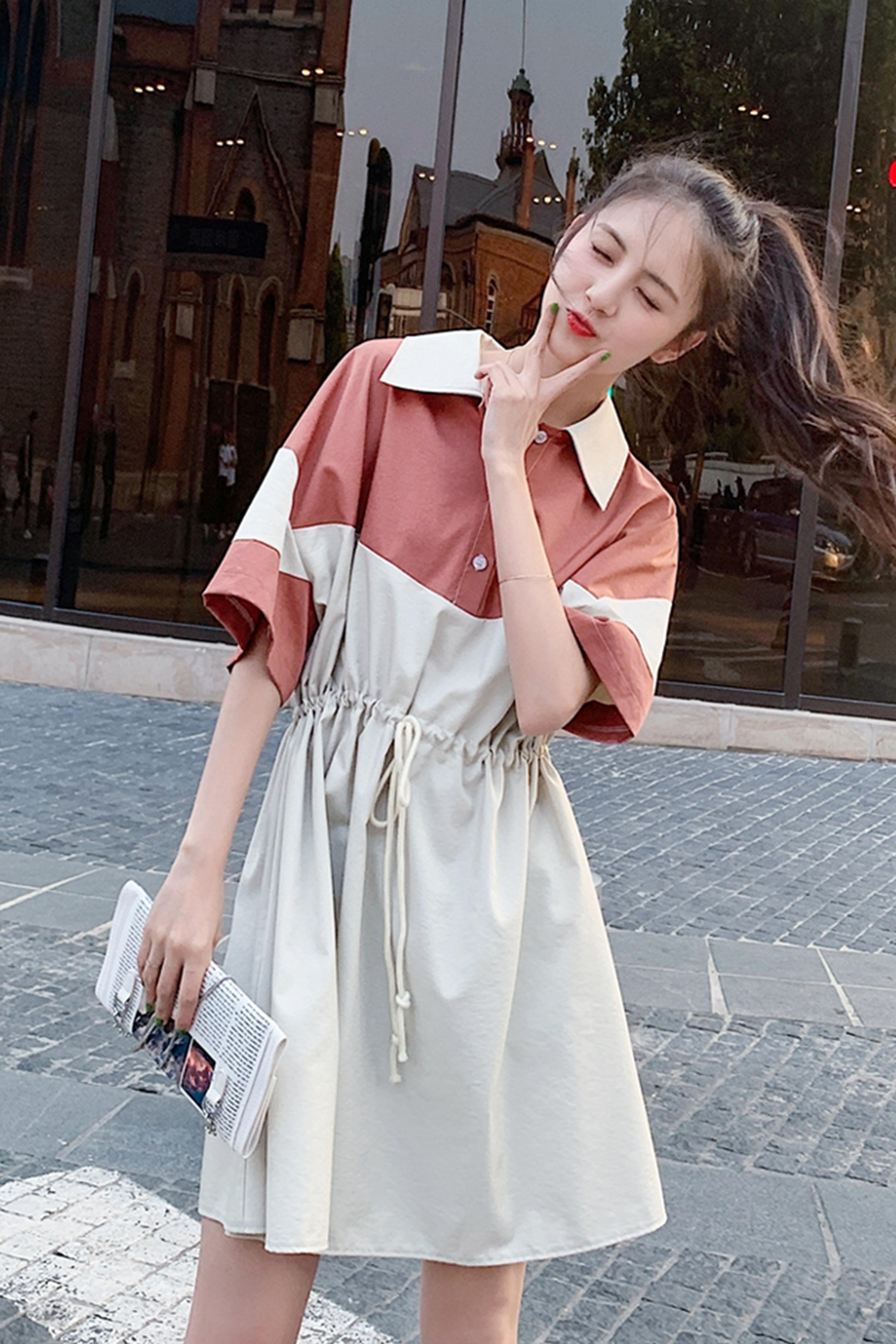 夏季新款2020休闲小清新学生仙女气超仙森系收腰显瘦连衣裙子