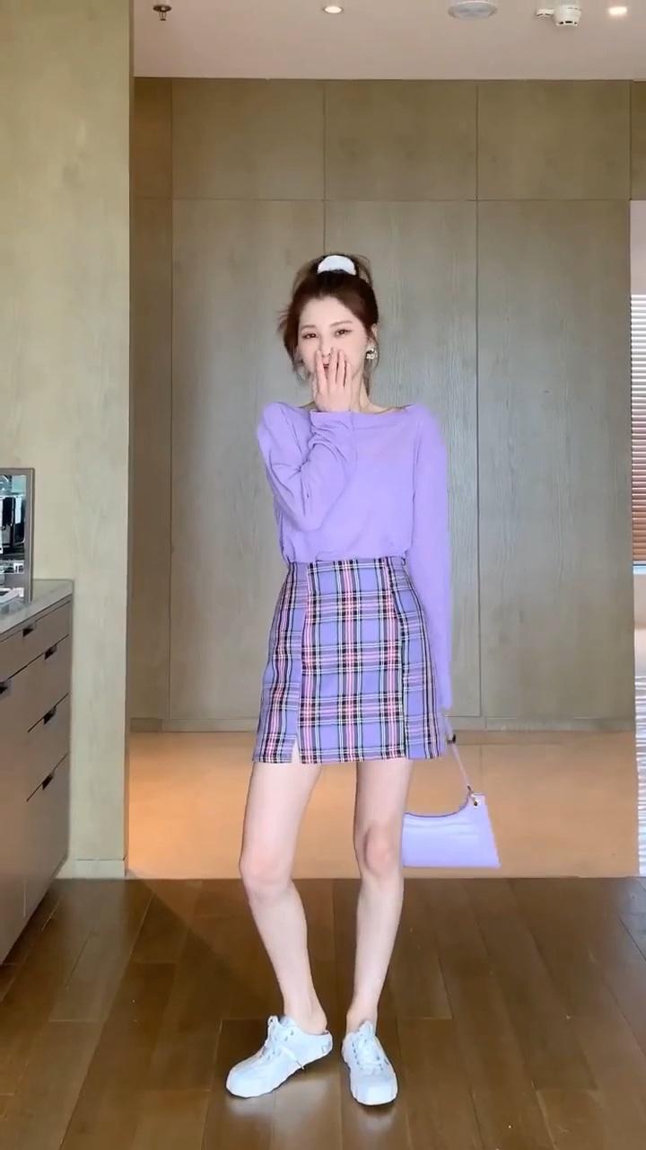 超级显白的四条裙子最后一套超级美 #最IN紫色系穿搭#