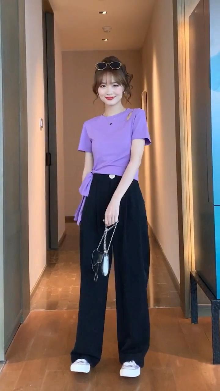 你们要的紫色穿搭! #今天穿什么#