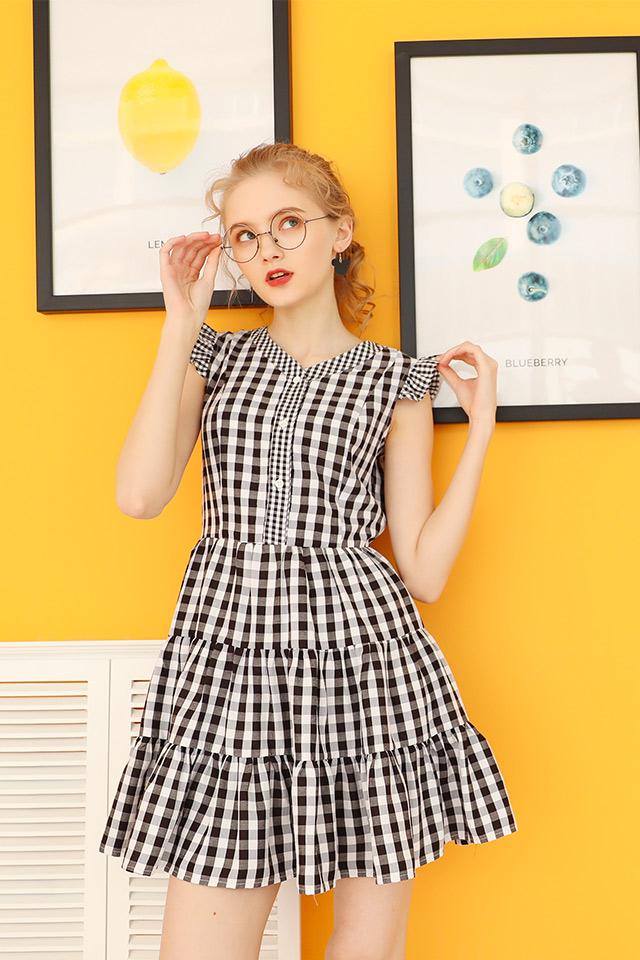 桔梗裙女森系格子裙2020年春季新款连衣裙学生裙装衬衫裙子