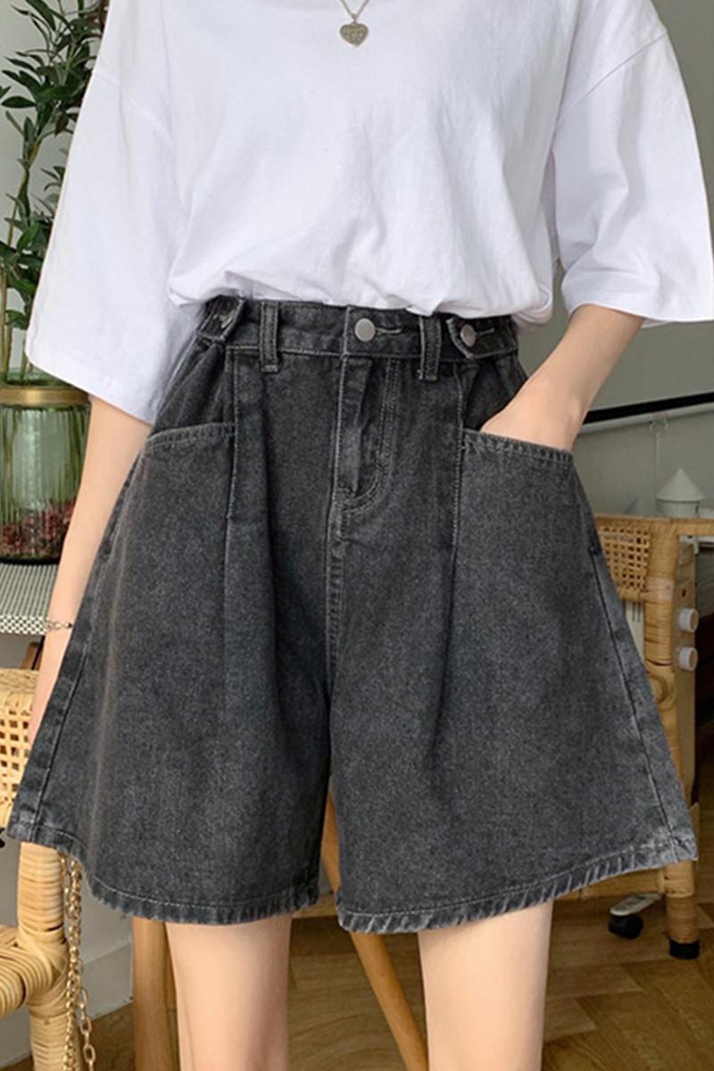 夏季2020新款大码胖mm五分牛仔裤直筒宽松显瘦百搭阔腿热裤