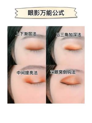 听说还有姐妹不会画眼影?! 四种眼影万能公式拿去练手~判断自己的眼形,区分适合自己的眼影方式。化上妆我们都是吸睛女孩~哈哈哈哈❤️ #美妆新手必备#