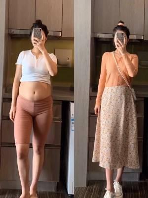 #今天穿什么# 身高161 体重112斤 有穿搭烦恼可以留言我哦 解决你的一切穿搭问题 今天分享的是针织搭配半身裙
