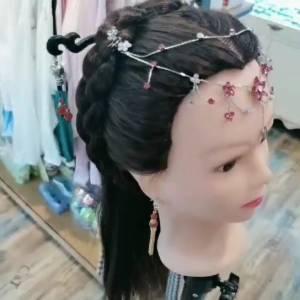 简单的古风造型 #汉服女孩的编发秘诀#