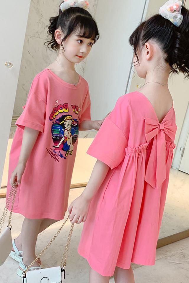 女童连衣裙夏装2020新款洋气女孩短袖长款裙韩版夏季儿童裙子