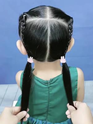 保证人人都会的发型,就连宝爸都学会了👧🏻👧🏻 #主播有一套#