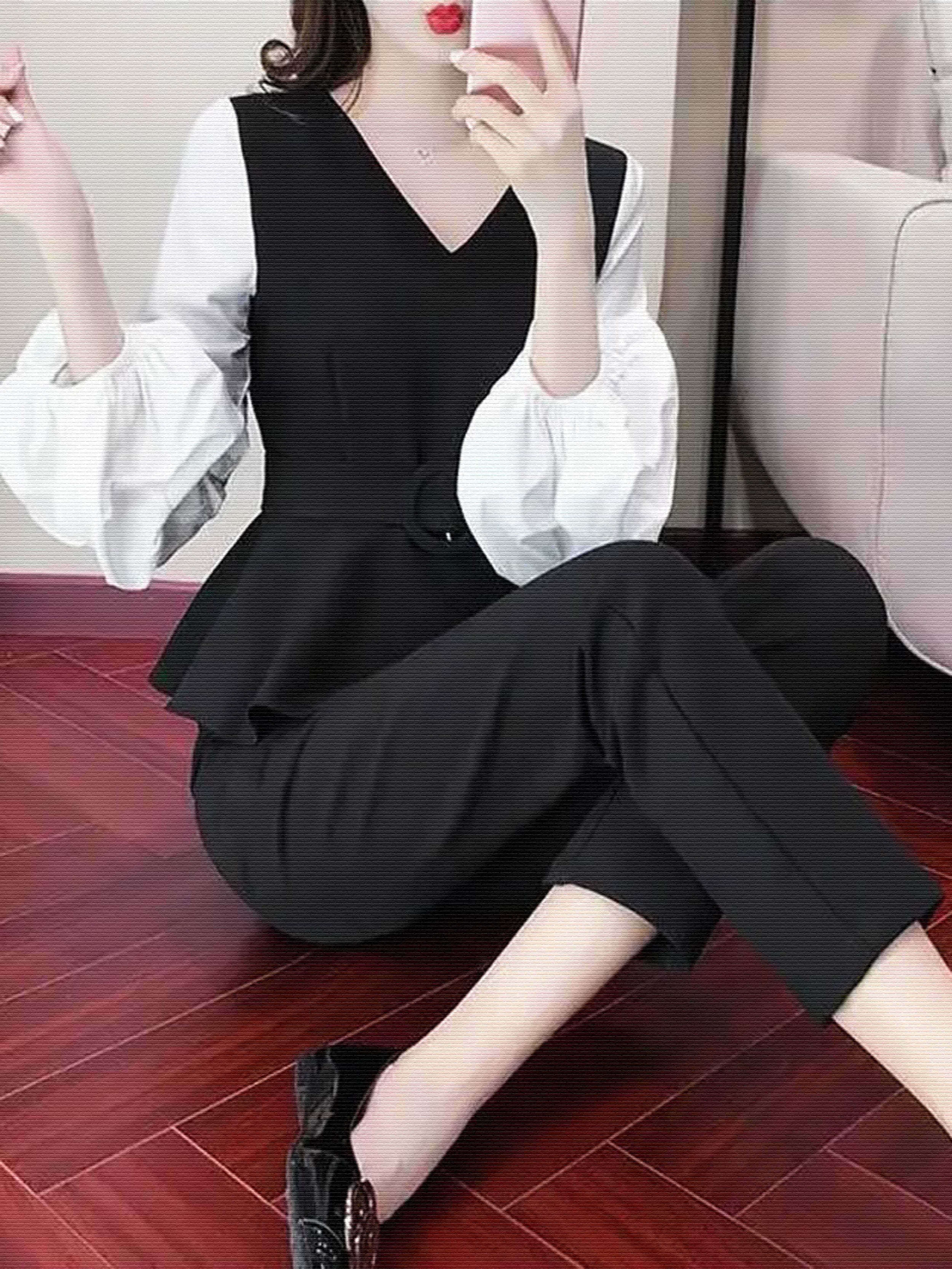 秋季新款韩版洋气收腰上衣+背心+休闲裤轻熟风三件套时尚套装潮