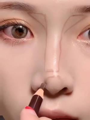 教你15秒画出迷人鼻梁高光,眼睛漂亮100倍 #我的护肤日常#