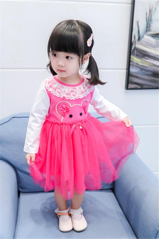 女童连衣裙秋装2020纯棉洋气女孩儿童公主裙蕾丝春秋装网纱裙