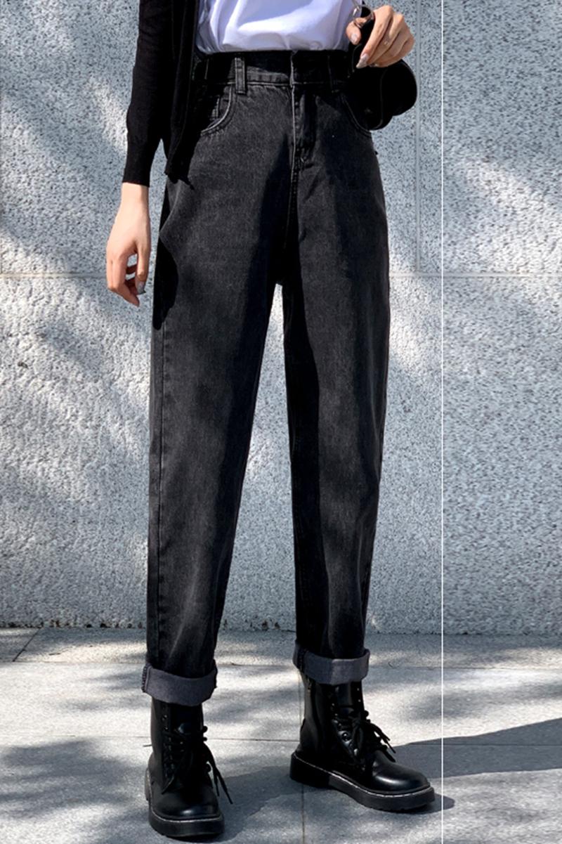 秋冬装2020年新款大码女装秋款时尚气质女裤胖妹妹显瘦牛仔裤