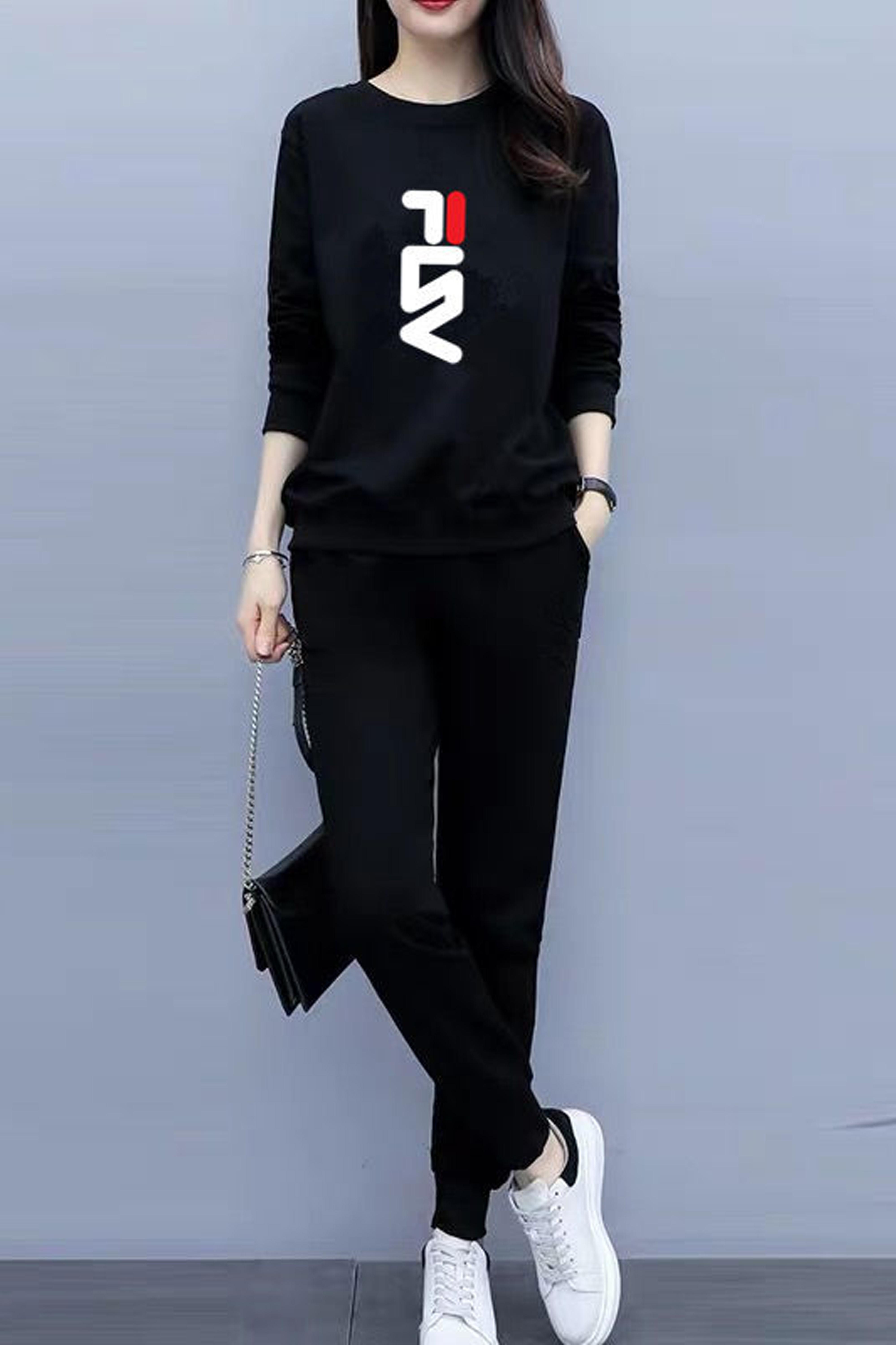 套装秋休闲运动女装2020新款宽松裤子卫衣长袖两件套