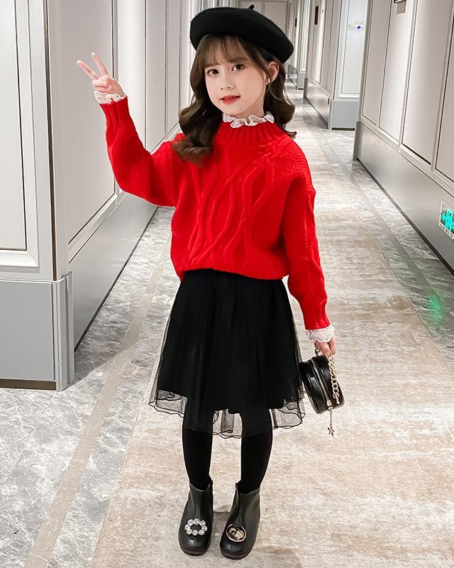 儿童装秋冬装毛衣套裙2020年冬款女童连衣裙冬季大童春装裙子