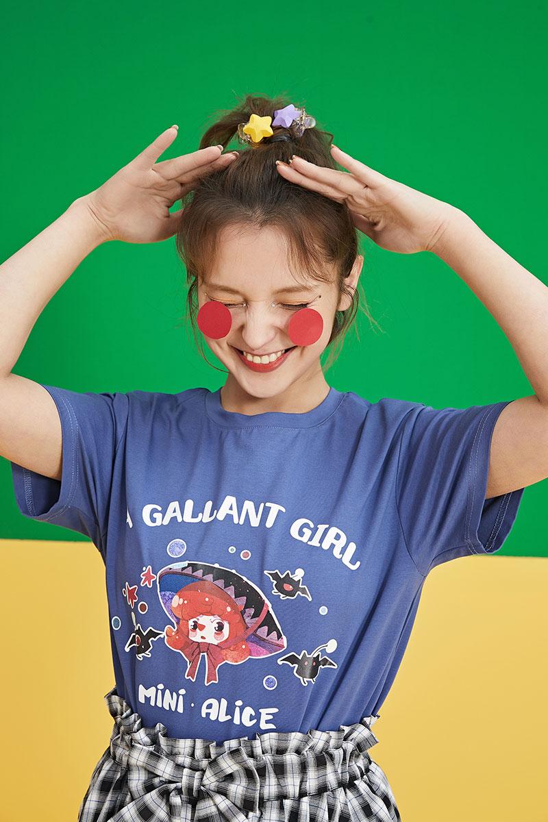 2021年夏季新款宽松韩版短袖T恤女日系洋气半袖学生上衣体桖