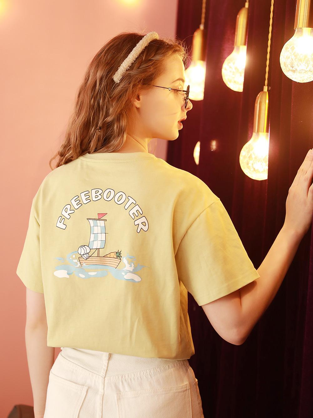 2021夏季新款宽松韩版学生短袖T恤女洋气半袖日系上衣体桖