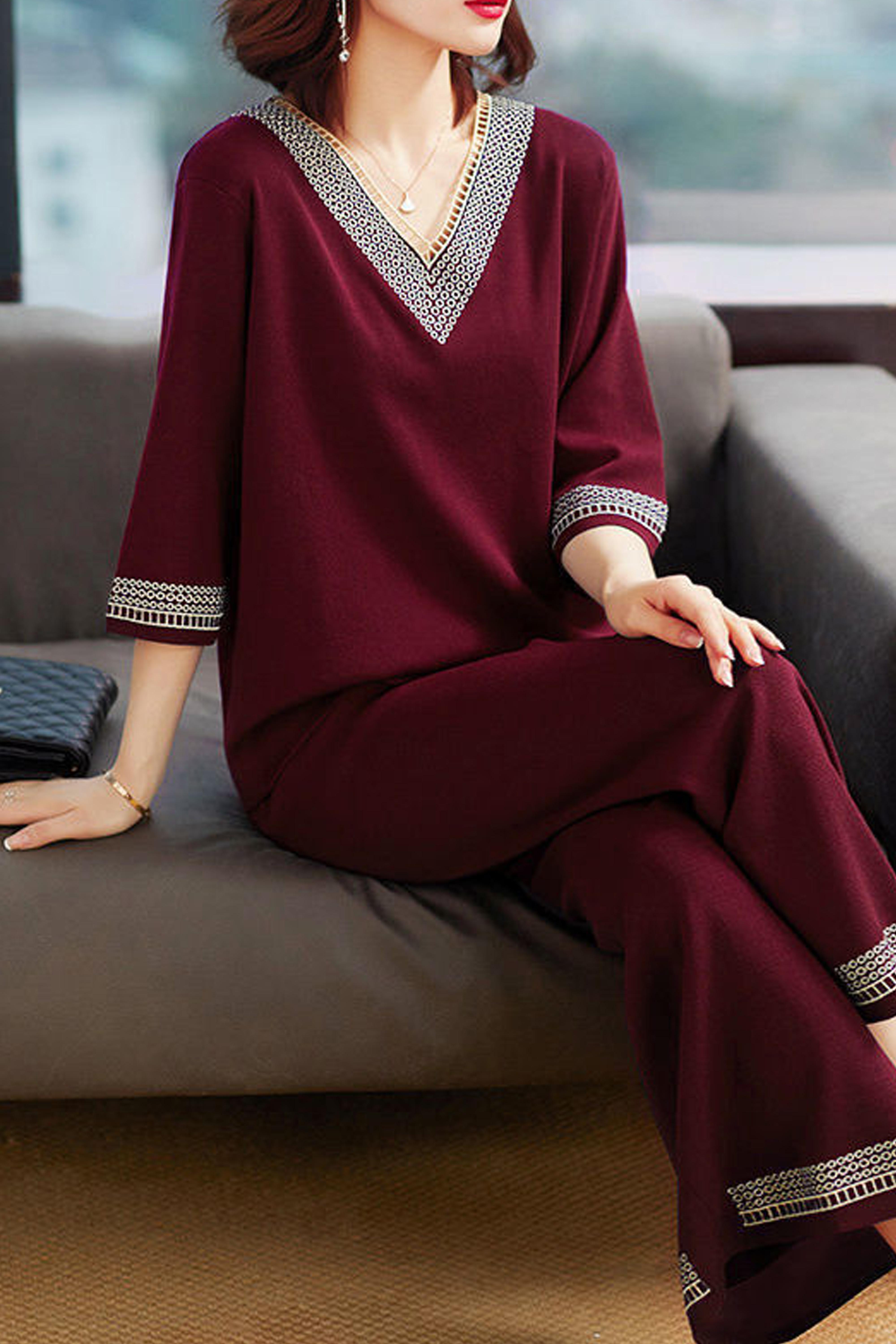 复古法式套装女春夏新款减龄洋气装大码休闲时尚两件套