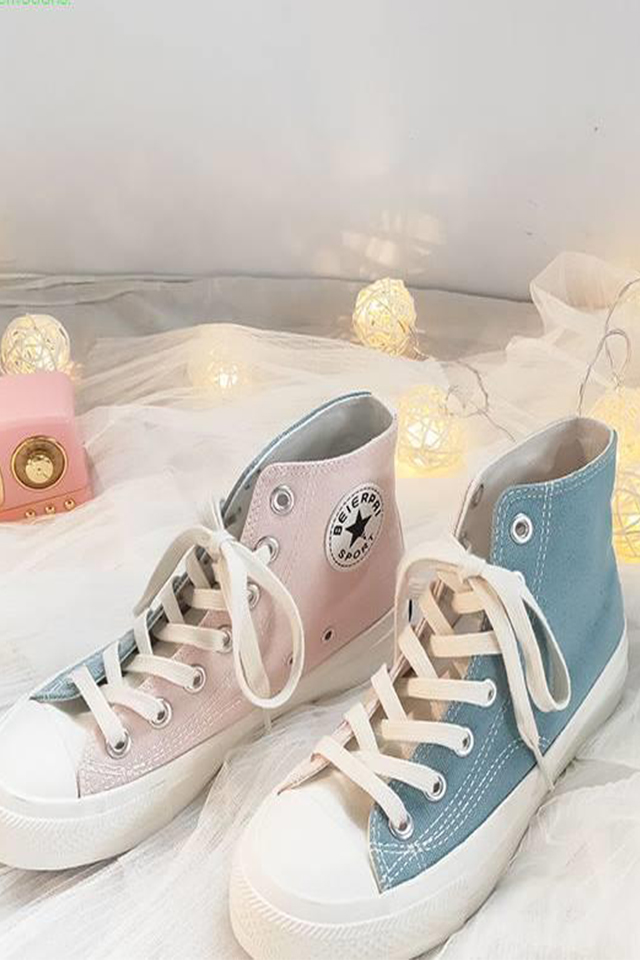 神仙鞋学生韩版高帮帆布鞋女ulzzang板鞋春季鸳鸯鞋品