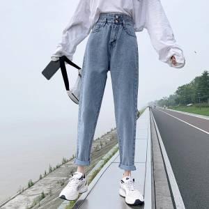 【米粒儿168_】松韩版学生秋款女装新款显瘦老爹哈伦裤子薄款 #百元搭一套#