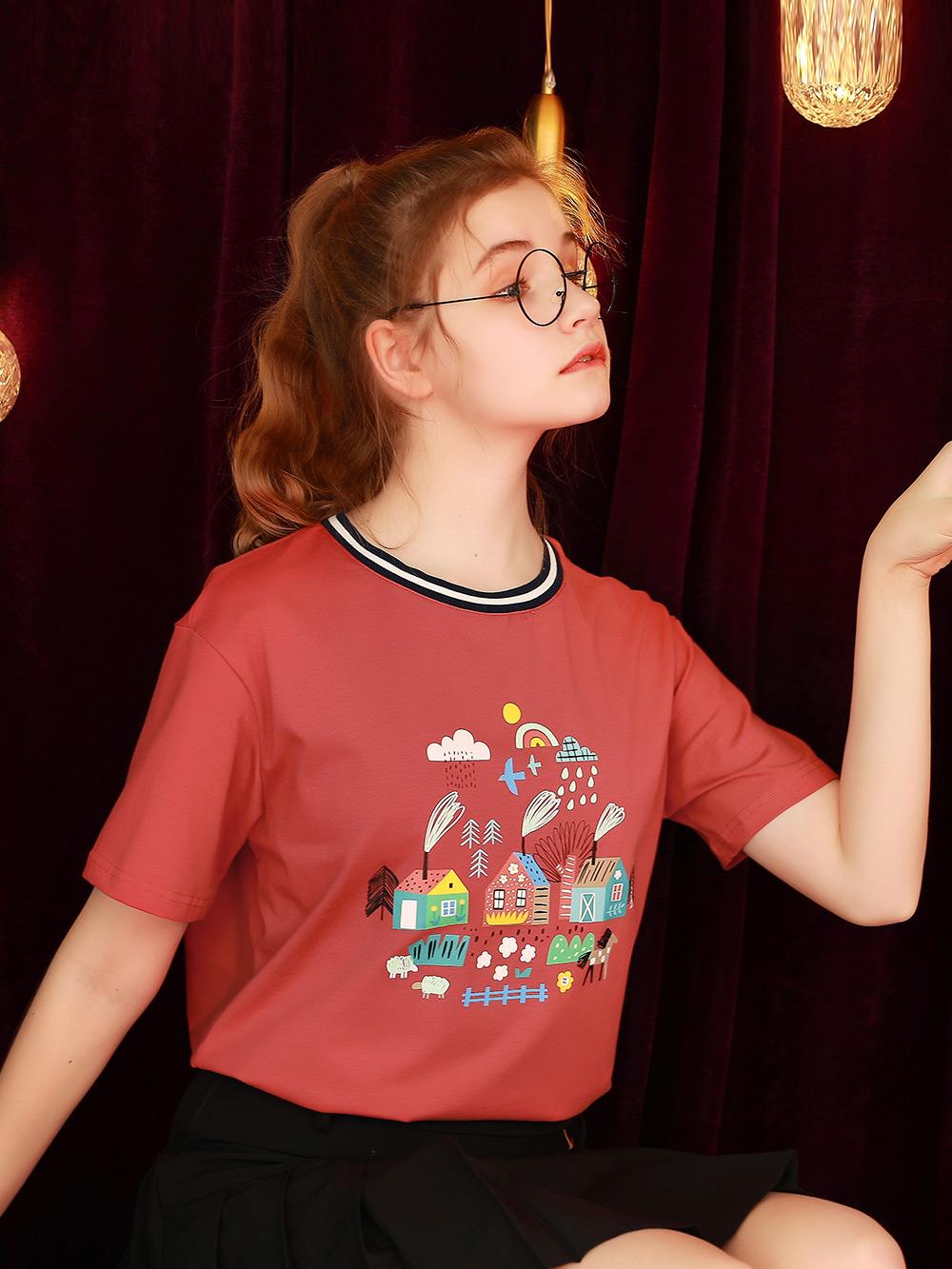 宽松韩版短袖T恤女夏2021年新款设计感半袖学生上衣日系体桖