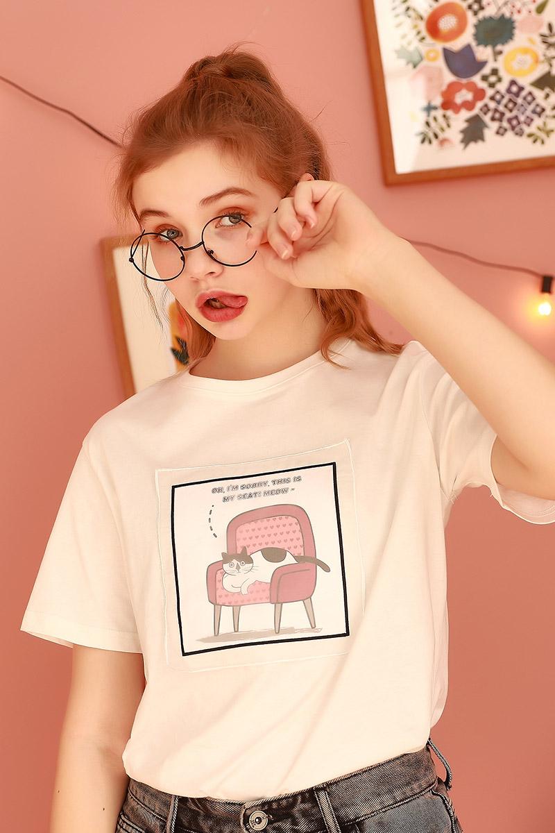 短袖白色t恤女2021年夏季新款宽松韩版学生上衣洋气半袖体桖