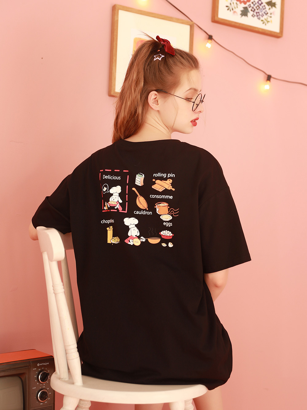 短袖白色t恤女2021年新款宽松设计感小众开叉大版上衣体桖夏