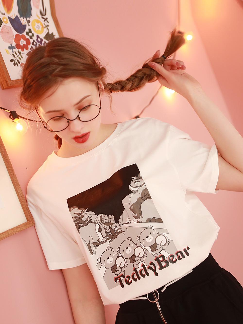 白色短袖t恤女2021年新款网红炸街半袖上衣小众设计洋气体桖