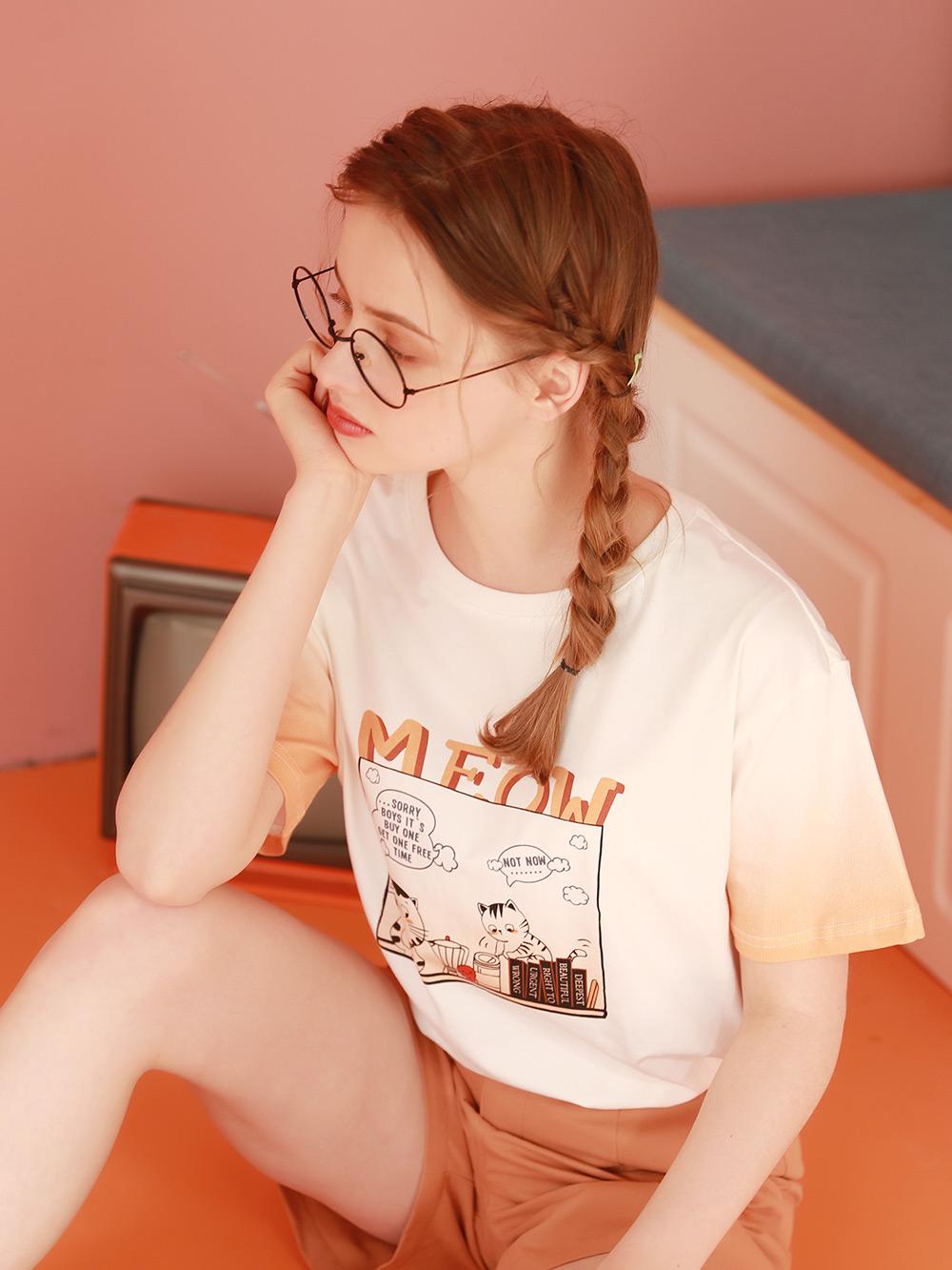 设计感小众短袖t恤女2021年新款夏季少女学生上衣半袖体桖夏