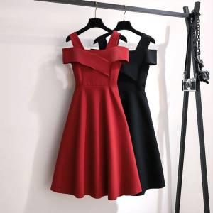 【yueyue月月1992】2021夏季新款大码女装时尚气质连衣裙女遮肚子显瘦收腰裙子