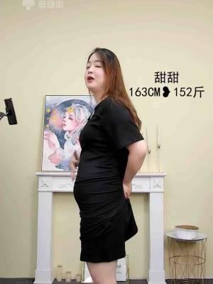 【大码胖甜甜】胖妹妹炸街设计辣妹针织中长款连衣裙 #新款#
