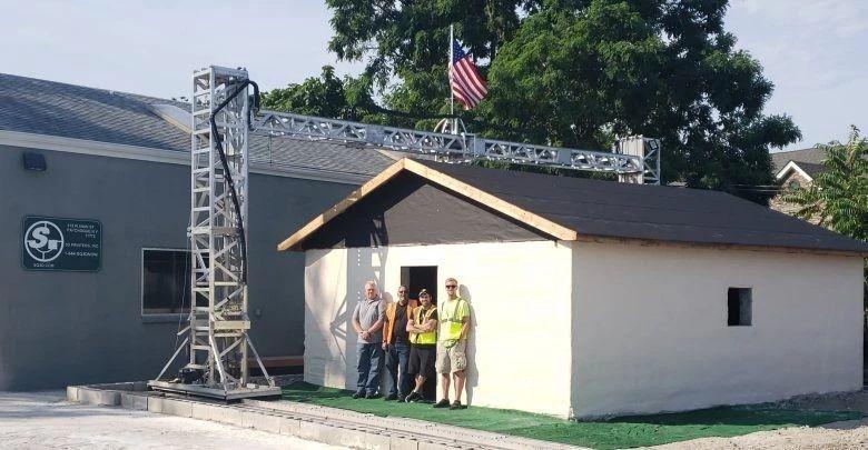 3D打印在12小时内打印500平方英尺的房屋