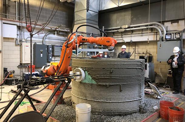 宾州州立大学团队研发用于商业化建筑3D打印材料和工艺