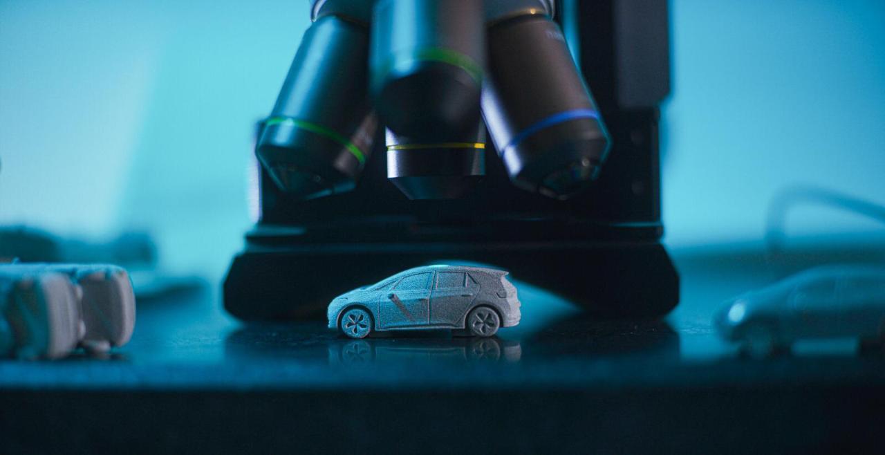 大众汽车将使用惠普Metal Jet 3D打印系统生产1万个金属电动汽车模型