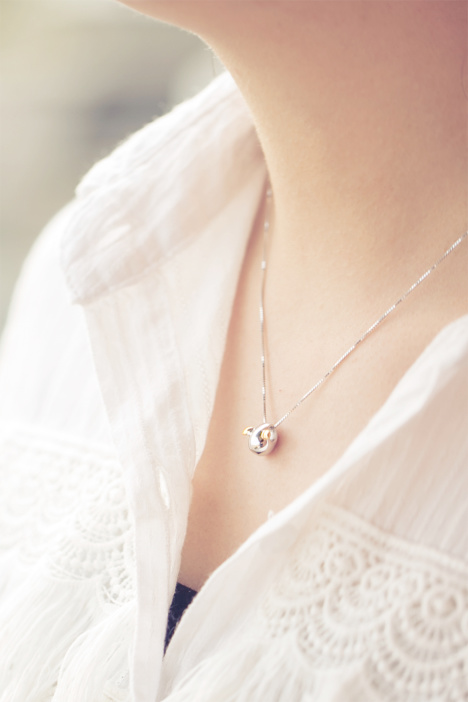 锁骨链,银项链,时尚,项链,韩版
